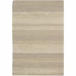 Hand Knotted Stripe Pattern Blue Brown 5 6x8 6 J246