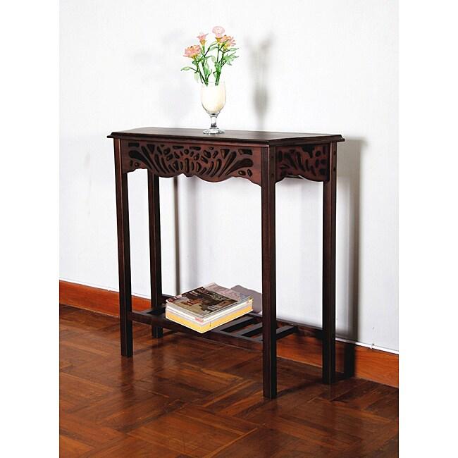 Solid Mahogany Wood Entry Wall Console Sofa Table