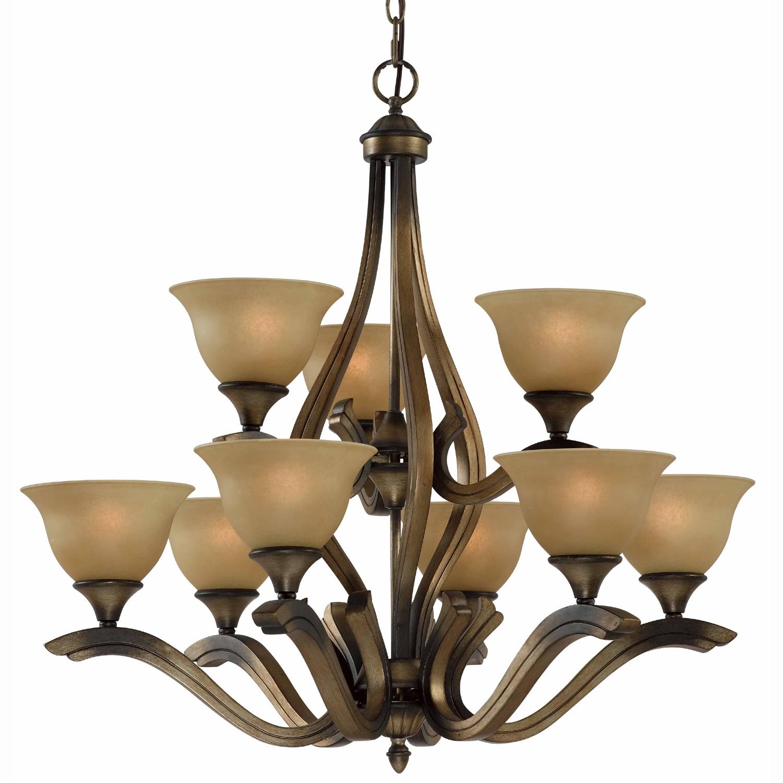 Overstock Lighting: Transitional 9-light Platinum Bronze Chandelier