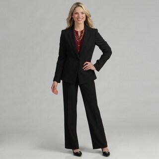 Tahari Women S Black White Pinstriped Pant Suit