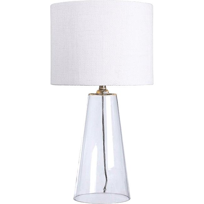 chamberlain 29 inch clear glass table lamp base desk lamps modern decor s ebay. Black Bedroom Furniture Sets. Home Design Ideas