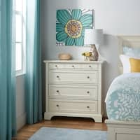 Copper Grove Hoxie White Wooden 4-drawer Storage Chest