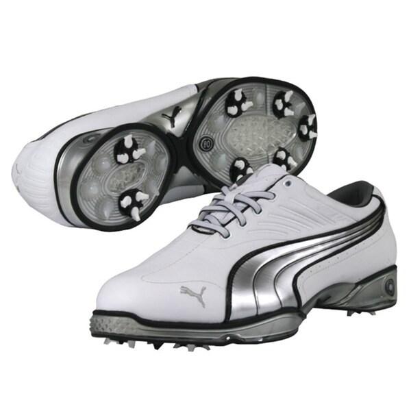 0cbf12afd245 Puma Men s Cell Fusion White  Silver  Black Golf Shoes