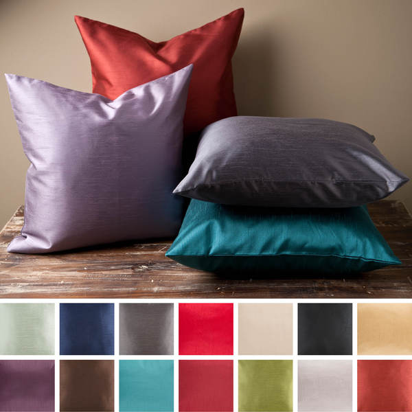Decorative Chic Removable Cover 18 Inch Square Solid Throw