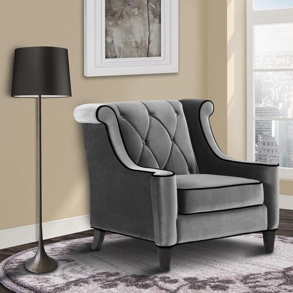 Modern Grey Velvet Chair 14191870 Overstock Com