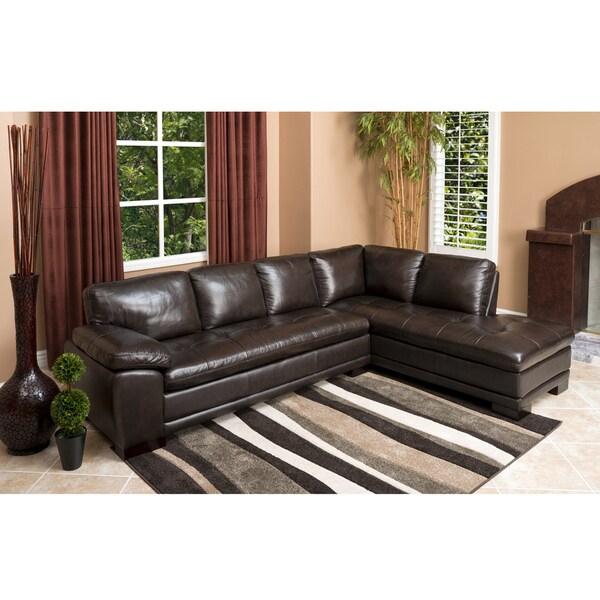 Abbyson Living Devonshire Premium Top Grain Leather