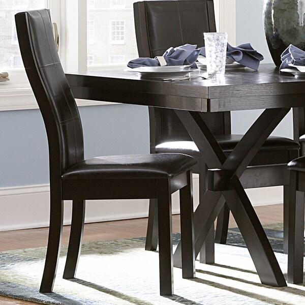Inspire Q Andorra Velvet And Faux Alligator Leather Dining: INSPIRE Q Dartford Espresso Contoured Dining Chair (Set Of