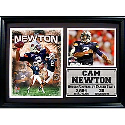 Auburn university cam newton photo stat frame p14192884