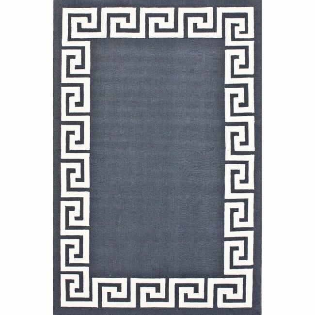 Nuloom Handmade Greek Key Wool Rug 5 X 8 14194638
