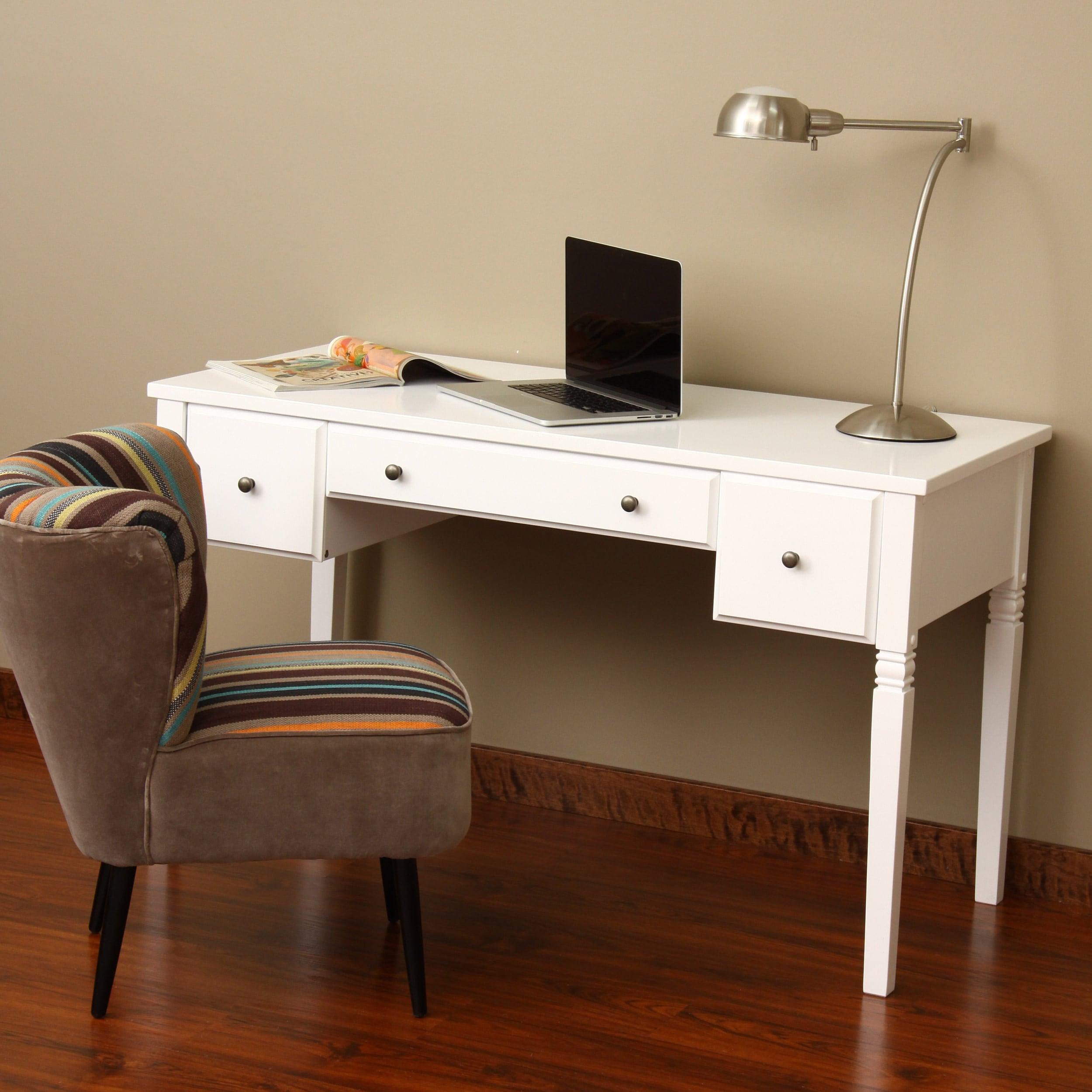 1cheap Cami White 3 Drawer Writing Desk Best Office