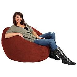 Fufsack Black Twill Bean Bag Chair 14211591 Overstock