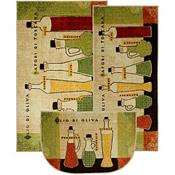 Mohawk Home Wine And Glasses Brown Kitchen Rug 2 6 X 3 10