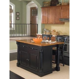 Home Styles Nantucket Distressed Black Finish Kitchen