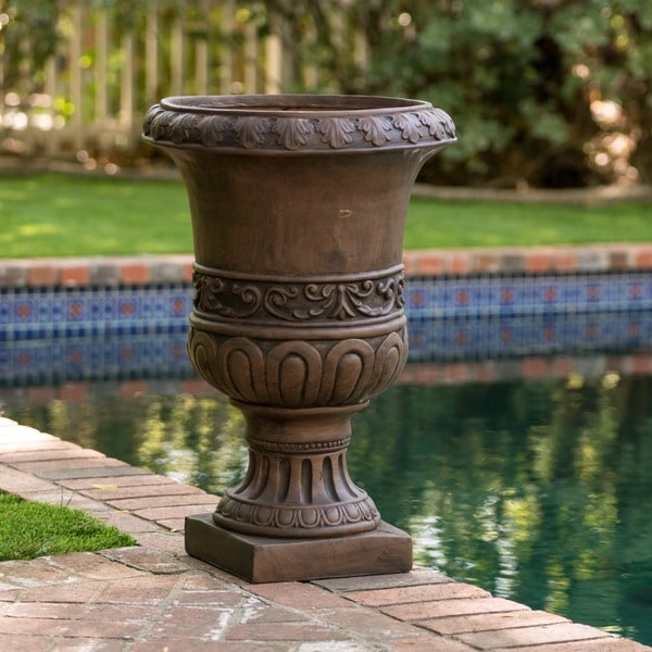 Christopher Knight Home Brown Turkish 26 Inch Urn Planter
