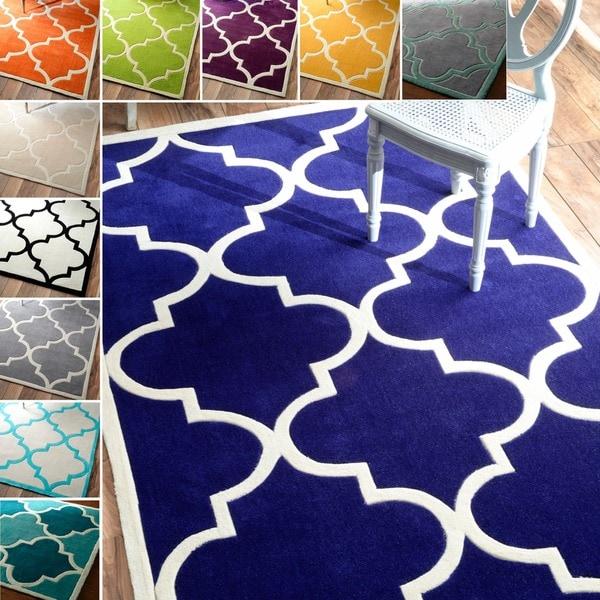 NuLOOM Handmade Luna Moroccan Trellis Rug (5' X 8