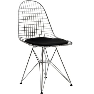 Ronnie Wire Base Black Chairs Set Of 2 12049550