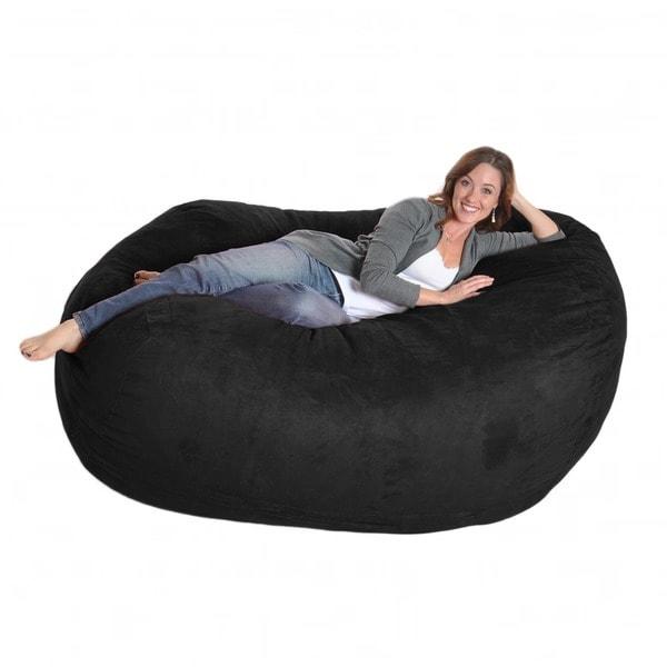 Prime Foot Soft White Fur Large Oval Microfiber Memory Foam Bean Short Links Chair Design For Home Short Linksinfo