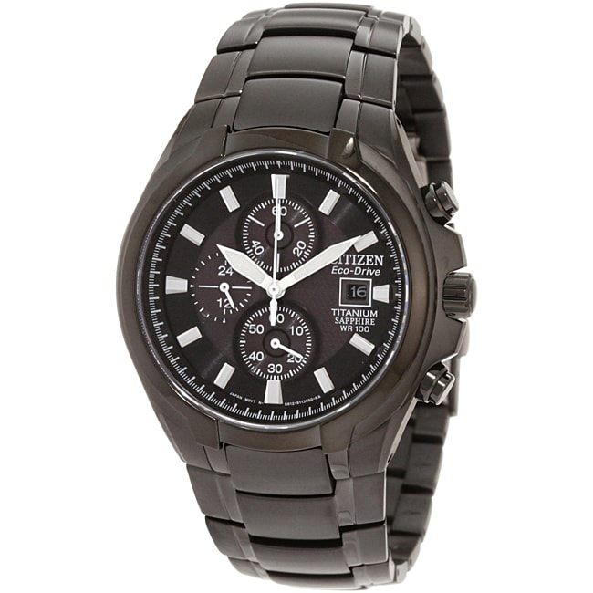 Citizen Men's Eco-Drive Titanium Chronograph Watch ...