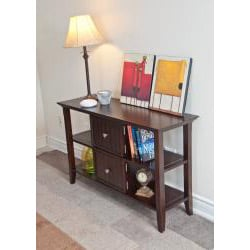 normandy tobacco brown console sofa table overstock overstock sofa side table Overstock Coffee Tables