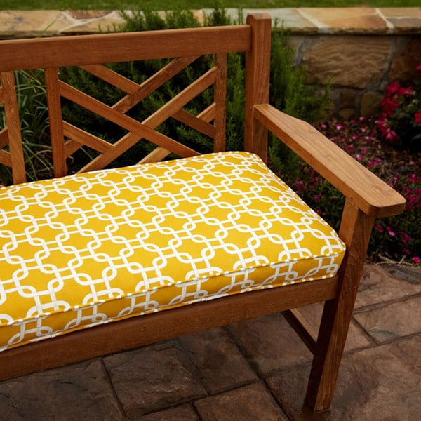 Penelope Yellow 60 Inch Outdoor Bench Cushion 14248268