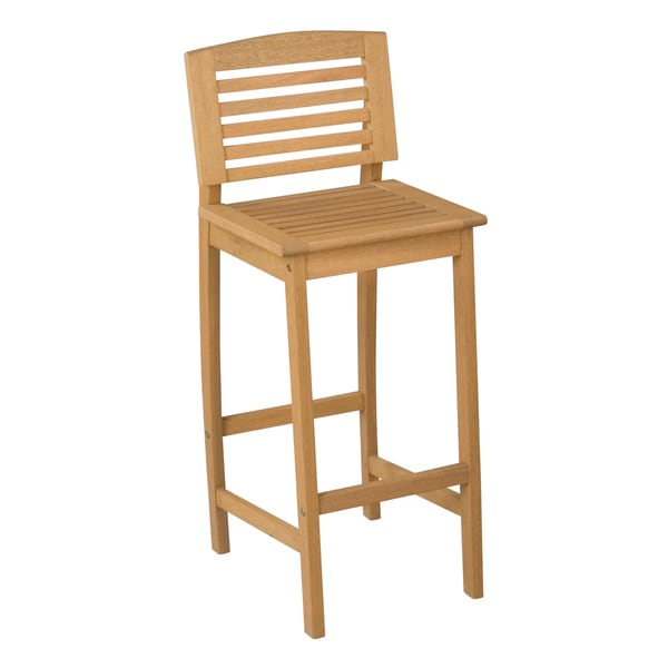 Home Styles Bali Hai Natural Teak Outdoor Bar Stool