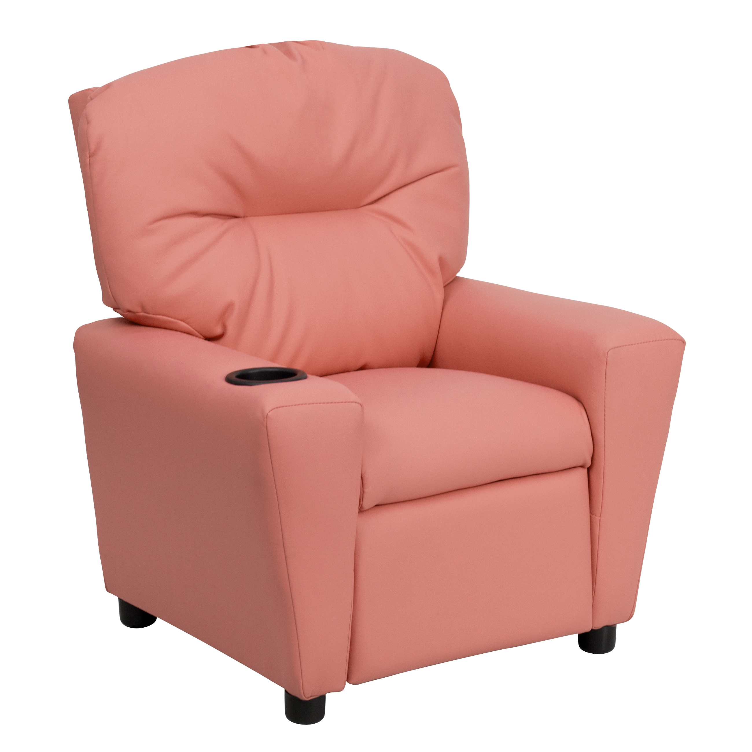 Flash Furniture Contemporary Pink Vinyl Kids Recliner With