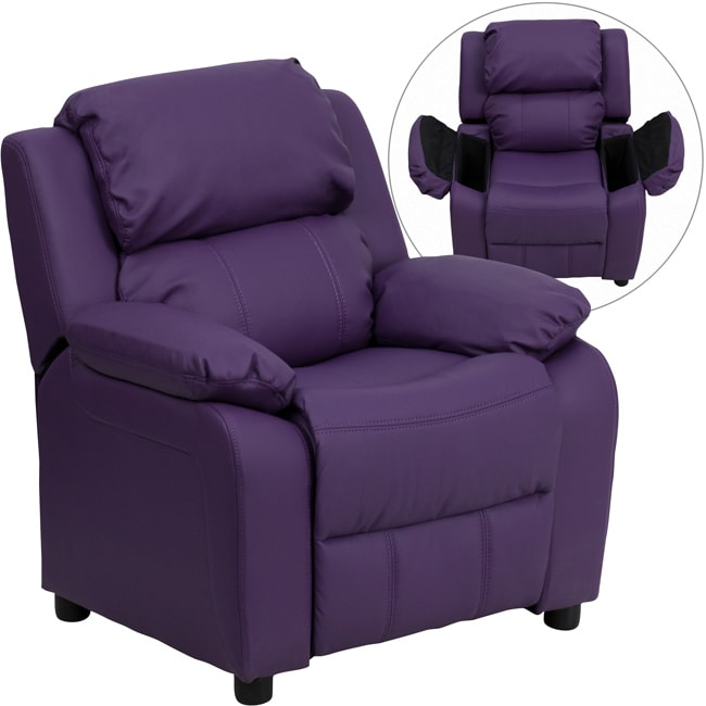 Deluxe Heavily Padded Contemporary Purple Vinyl Kids