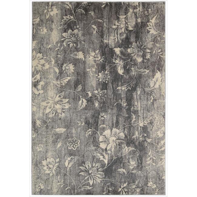 Nourison Utopia Grey Abstract Rug 9 6 X 13 14255055