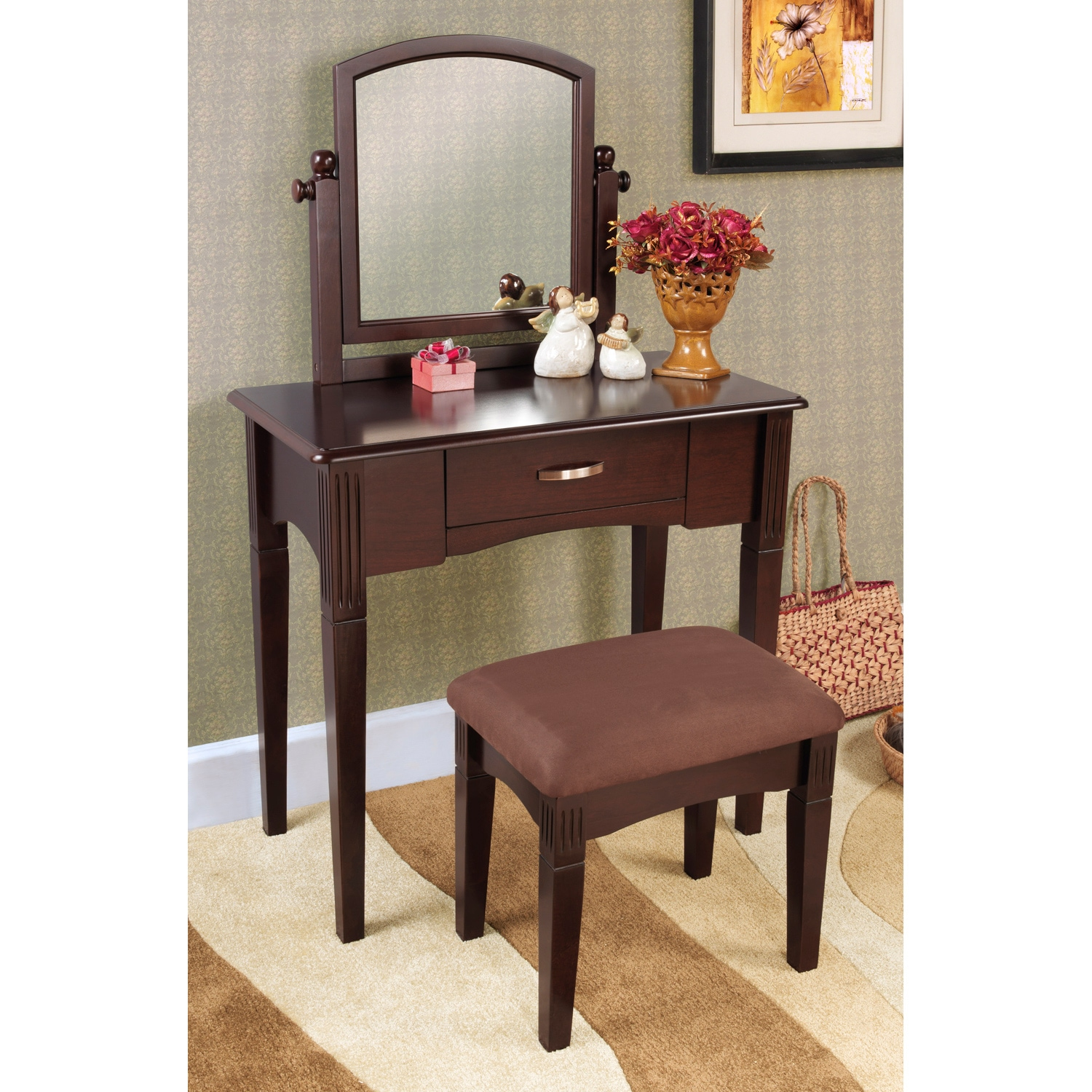 Espresso Finish Three Piece Vanity Set 14257751 Overstock Com Shopping The Best Prices On