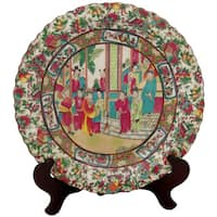 Handmade Porcelain 18-inch Rose Medallion Plate (China)