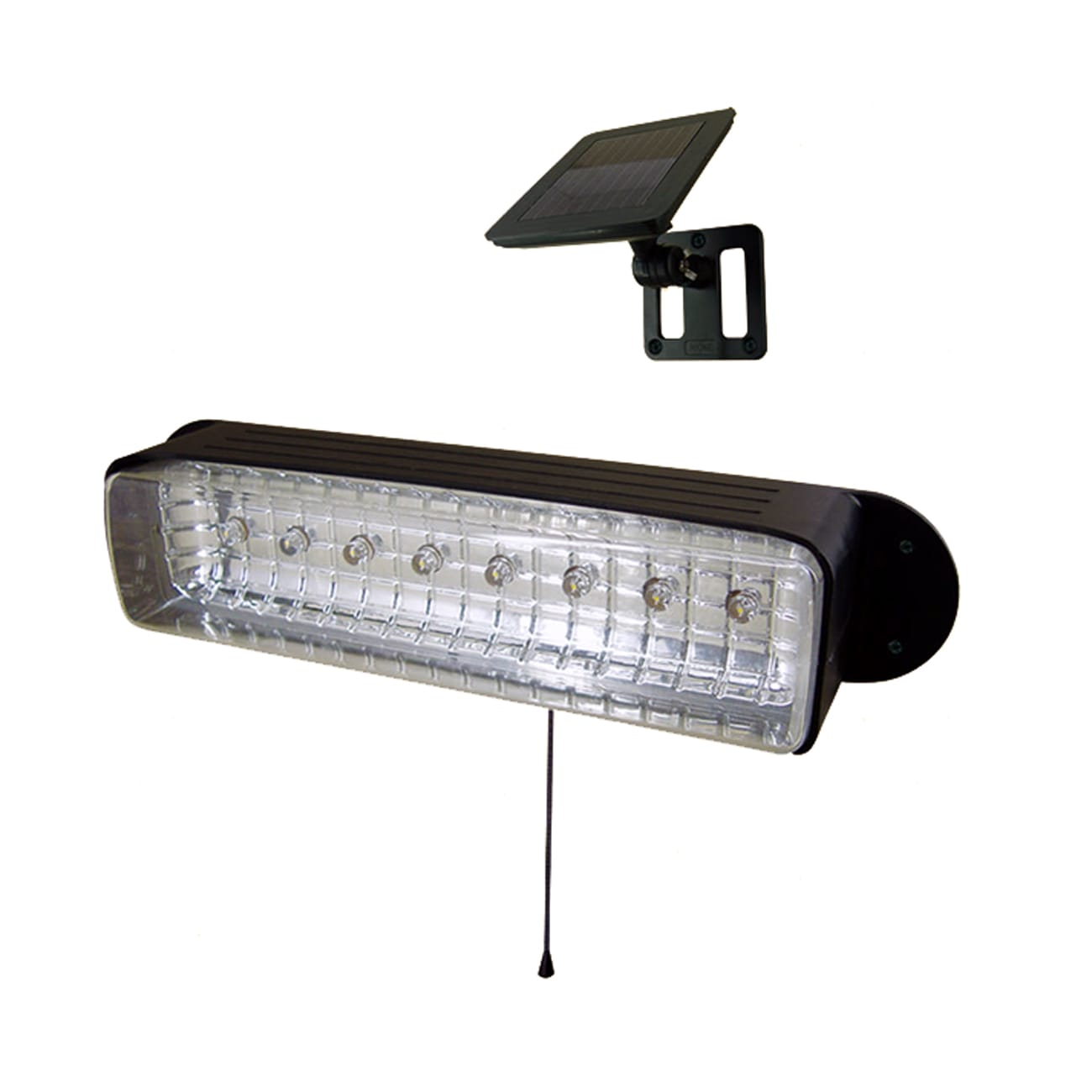 Solar Powered Wall Garage Shed Light 8-LED