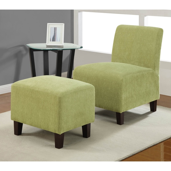 Armless Duo Split Pea Chair Ottoman Set 14258563