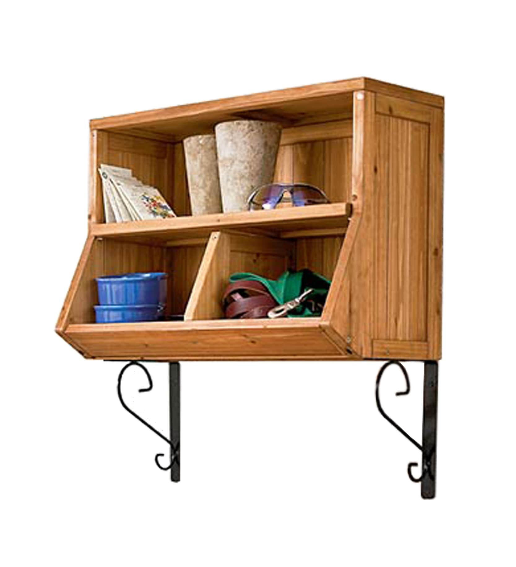 Wall Storage Cubby With Brackets 14259823 Overstock