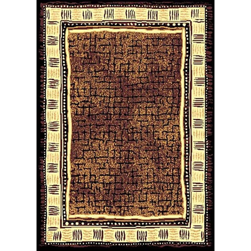 African Adventure Brown Area Rug 5 X 7 14261283