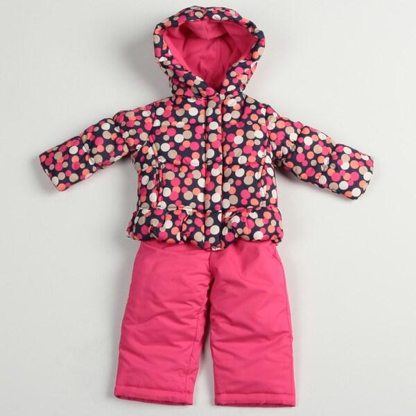 b98ea3f6143f Osh Kosh Toddler Girl s Pink Polka dot Snowsuit Osh Kosh Girls ...