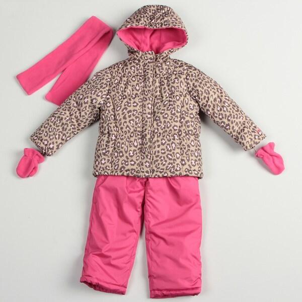 0451a7eb7952 Carters Girl s Pink Cheetah Snow Suit Set Carter s Girls  Outerwear ...