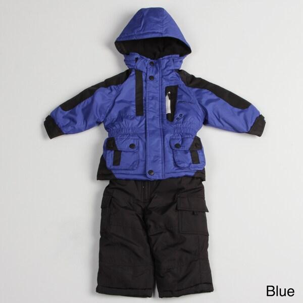 763faf476567 London Fog Toddler Boy s Colorblock Snow Suit London Fog Boys ...