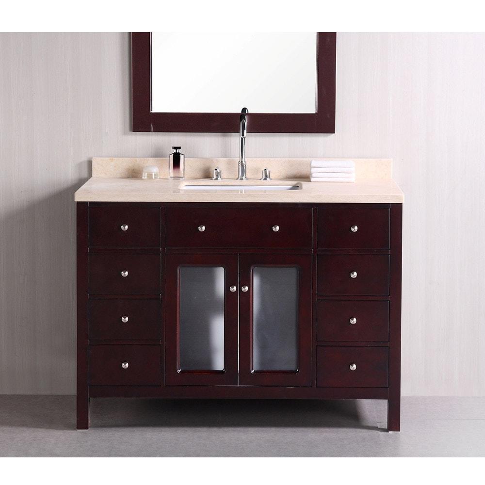 Design Element Venetian 48 Inch Single Sink Bathroom Vanity 14263820 Overstock Com Shopping