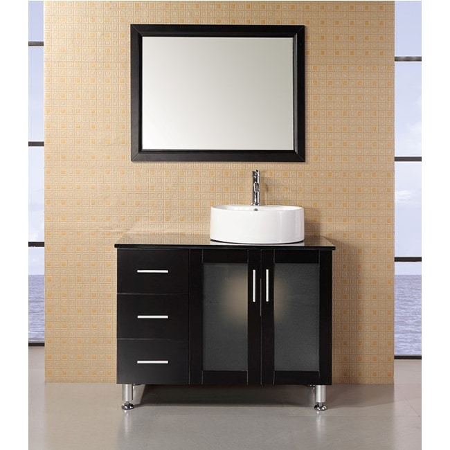 Design Element Malibu 39 Inch Single Sink Espresso Finish