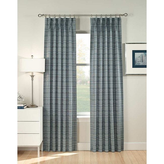 Heritage Pinch Pleat 95-Inch Curtain Panel Pair