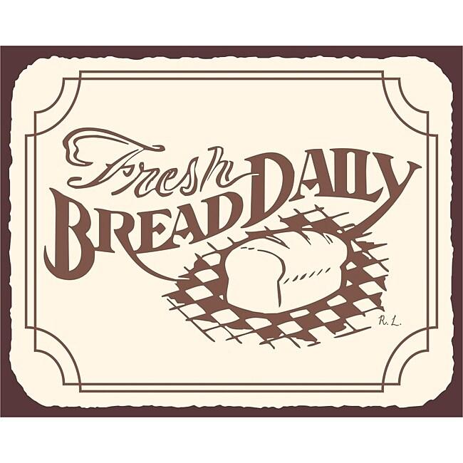 Fresh Bread Daily Bakery Wall Decor Vintage Metal Art