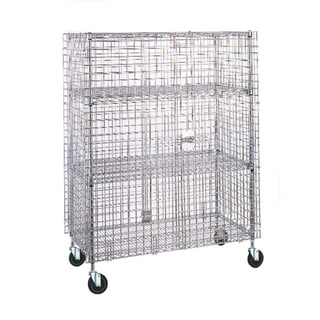 Olympic 2 Shelf Chrome Mobile Security Unit 24 X 36 X 71