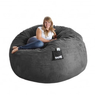 Lovesac Supersac 6 Foot Foam Lounge Chair Navy Overstock