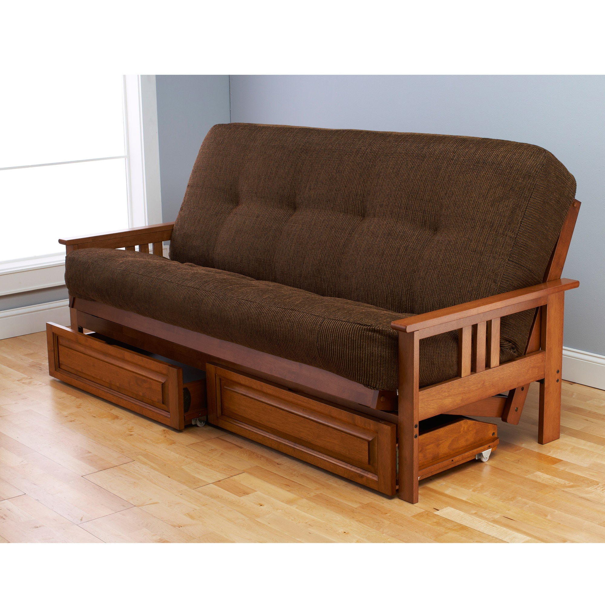 Somette Beli Mont Multi Flex Honey Oak Full Size Futon