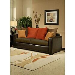 Furniture Of America Roxanne Microsuede Leatherette Sofa