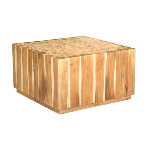 Decorative Tan Rustic Wooden Augusta Coffee Table