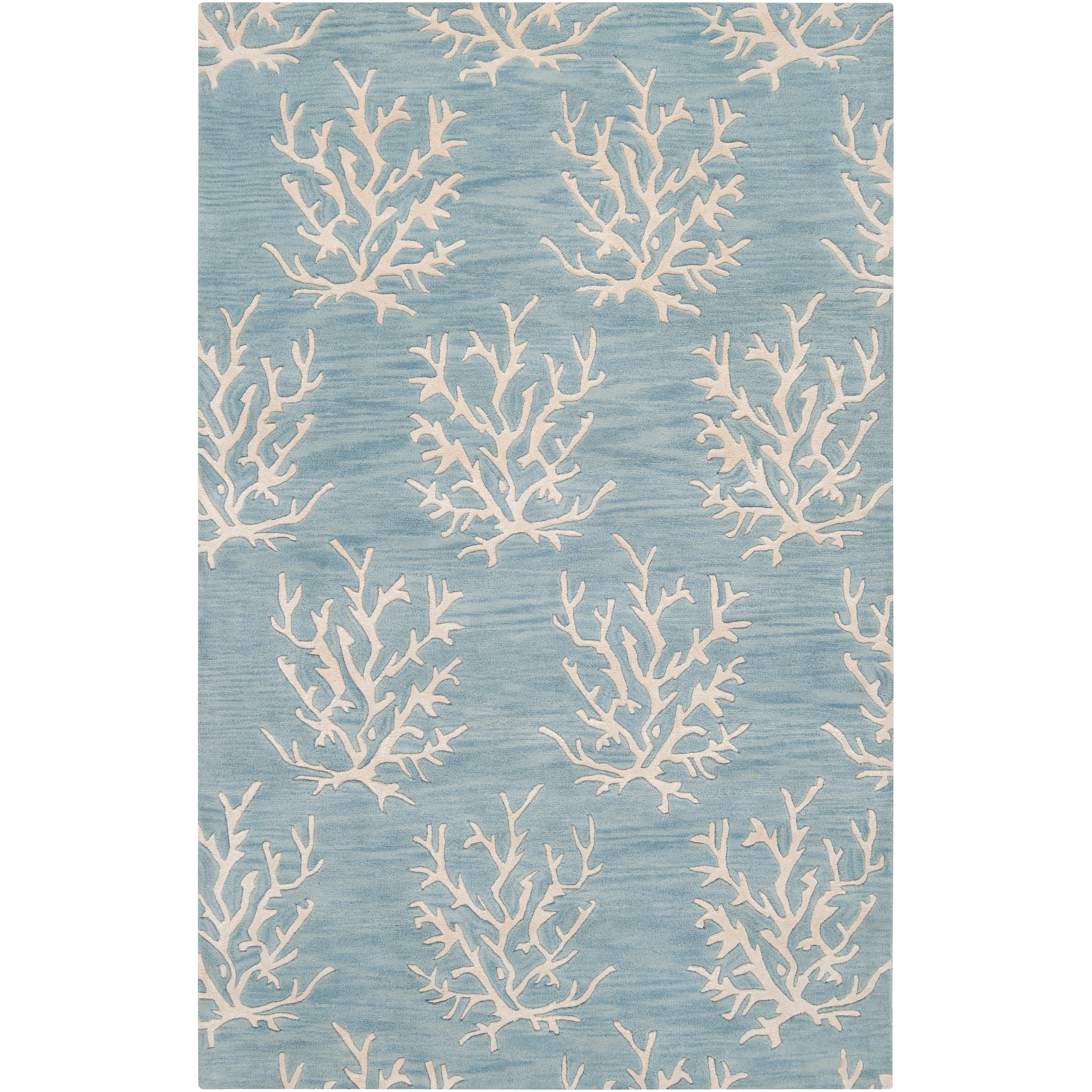 Somerset Bay Hand Tufted Bacelot Bay Blue Beach Inspired