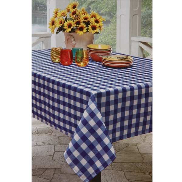 Blue And White Checkered Tablecloth 14296118 Overstock