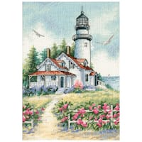 """Gold Collection Petite Scenic Lighthouse Counted Cross Stitch-5""""X7"""""""