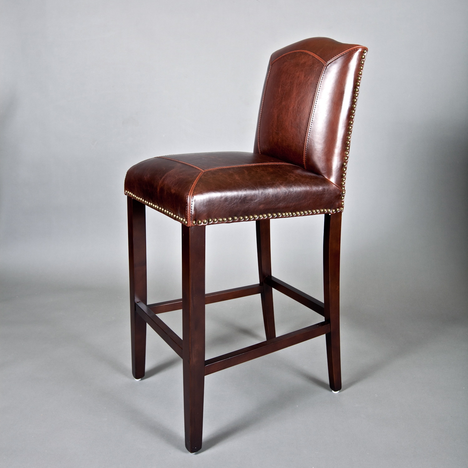 Counter Stools Overstock: Monroe Leather Bar Stool